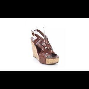 🌺🌺TORY BURCH🌺STRAPPY OPEN-TOE CORK WEDGES🌺9M🌺